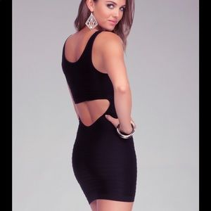 Black Bebe Bodycon Cutout Dress